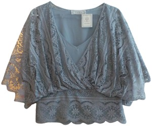 Beyond Vintage Top Gray