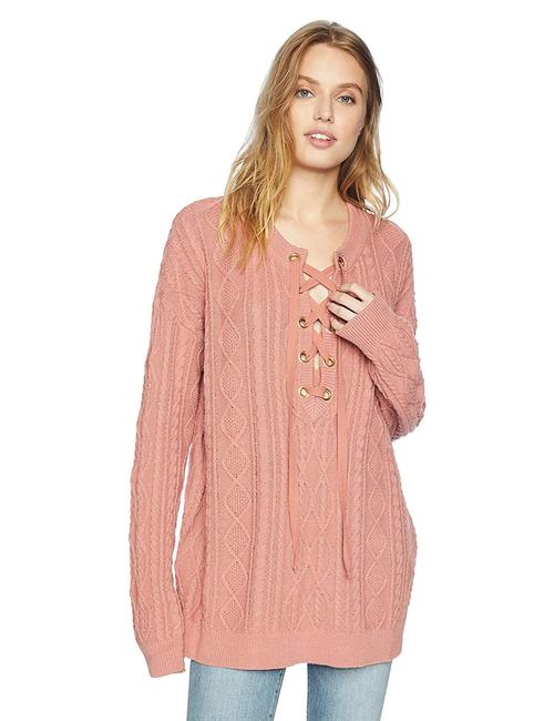 Preload https://img-static.tradesy.com/item/25097512/show-me-your-mumu-lance-lace-mauve-cable-knit-sweater-0-0-650-650.jpg