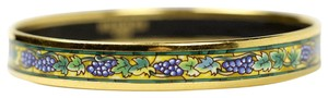 Hermès Hermés Narrow Gold Enamel Bracelet Grapes