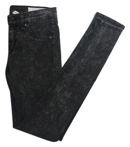 Rag & Bone Acid Wash Grunge Edgy Goth Cool Skinny Jeans-Acid