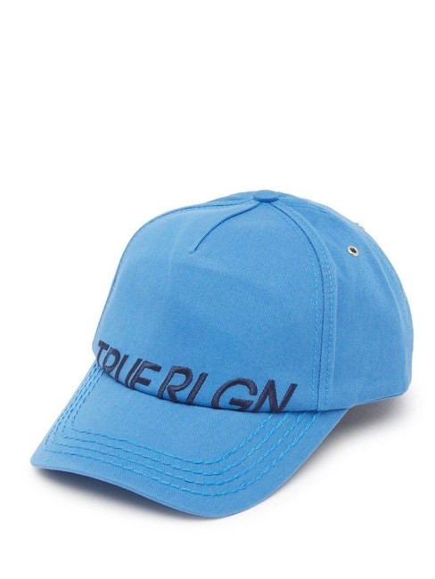 Item - Blue Partial Name Logo Digital Adjustable Baseball Cap Hat