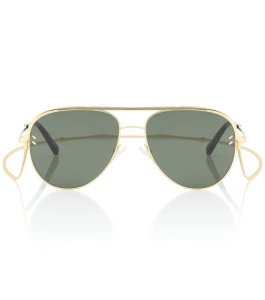Stella McCartney NEW Stella McCartney SC0165S Chain Pilot Aviator Sunglasses
