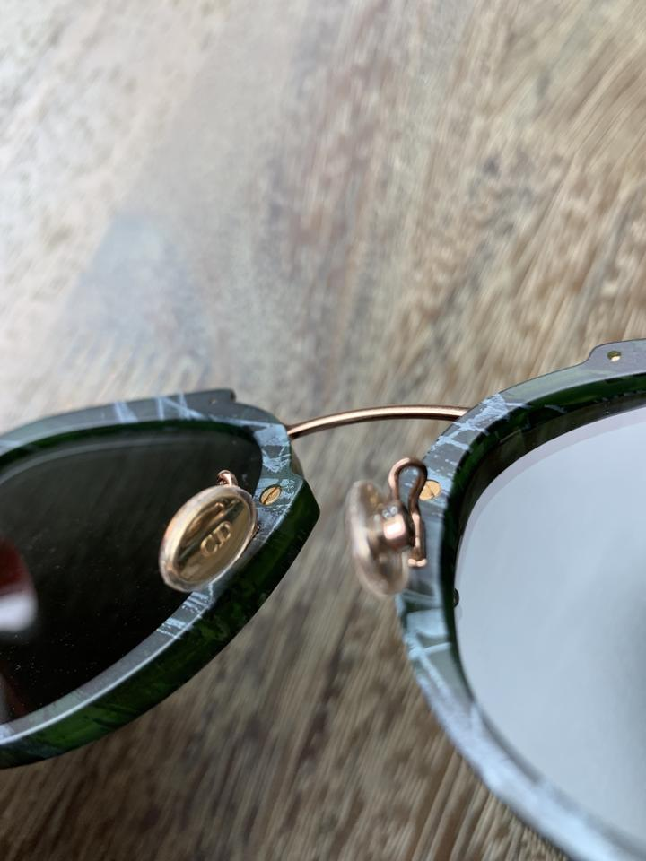 c076f30f41d Dior Dior Eclat Green Marble Rose Gold Hardware Sunglasses Image 8.  123456789