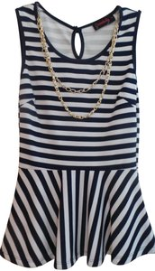 annabelle Top Navy/White