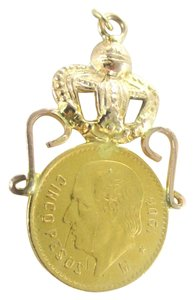 Other 22KT YELLOW GOLD COIN WITH 14KT YELLOW GOLD FRAME PENDANT MEXICAN