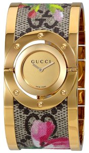 Gucci Twirl Stainless Bloom Bangle YA112443