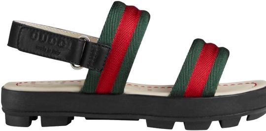 1b58399e0 Gucci Black with Signature Red and Green. Children's / Girl's Leather Web  Sandals