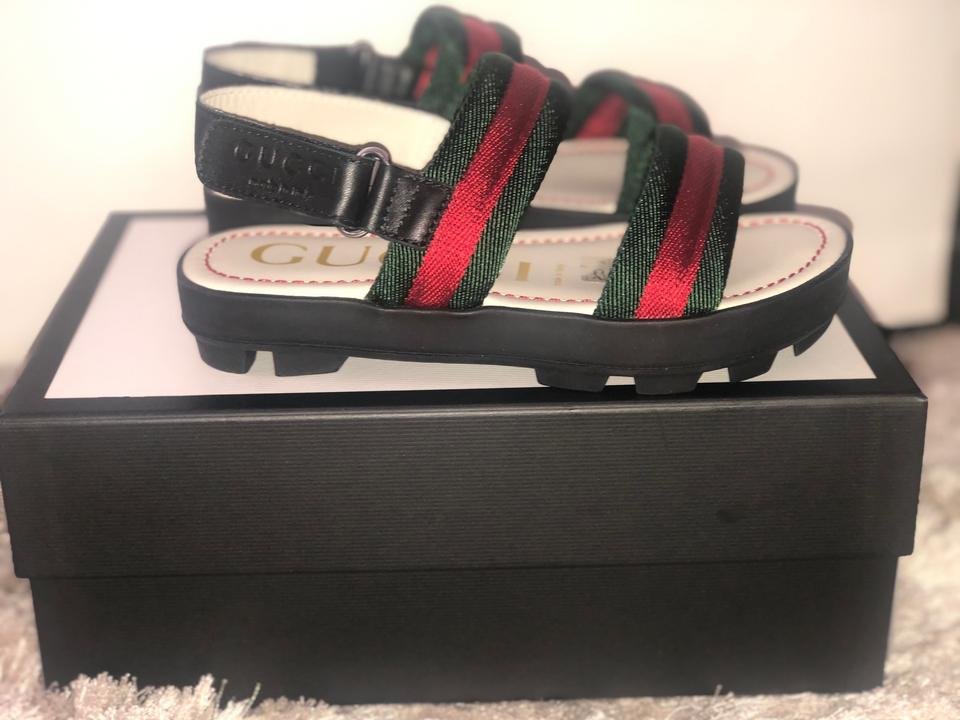 9f1c8e2b8 Gucci Black with Signature Green and Red Girl Children's / Girl's ...