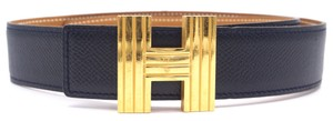 Hermès 32Mm Gold Kelly Cadena H Belt Size 65 Reversible leather