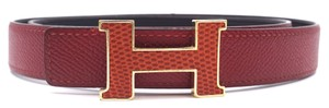 Hermès 24Mm Constance gold H Belt Size 80 Reversible leather Belt