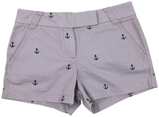 """Item - Lilac/Navy Factory 3"""" Anchor Embroidered Chino Shorts Size 4 (S, 27)"""