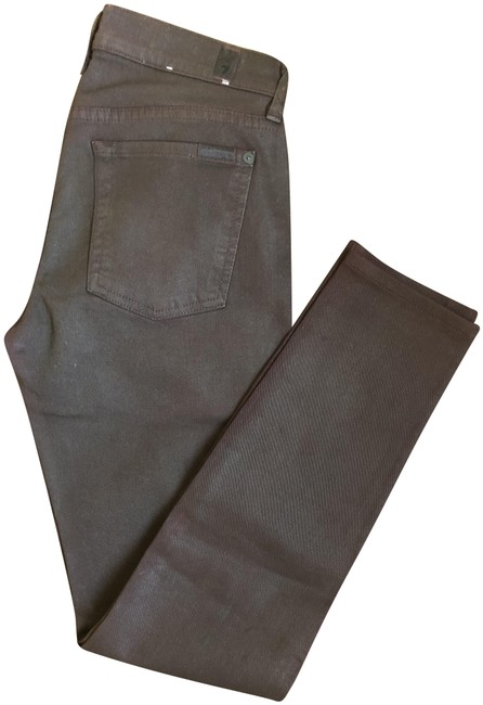 Item - Burgundy Coated The Skinny Jeans Size 27 (4, S)