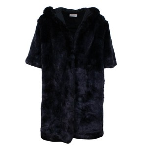 Faith Connexion Faux Hooded Polyester Hook And Eye Fur Coat