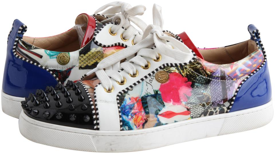 c56927f868d1 Christian Louboutin Multicolor Louis Junior Spikes Flats Sneakers ...