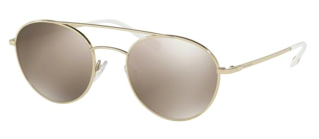 Prada Gold New Rounded Sps 51s Zvn1c0 Free 3 Day Shipping Sunglasses Prada Gold New Rounded Sps 51s Zvn1c0 Free 3 Day Shipping Sunglasses Image 1