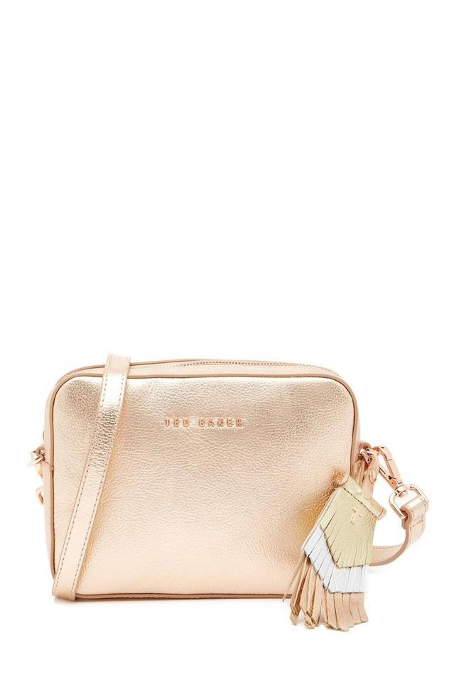 4819de1ce93 Ted Baker New Womens London Darwina Metallic Tassel Camera Rose Gold ...