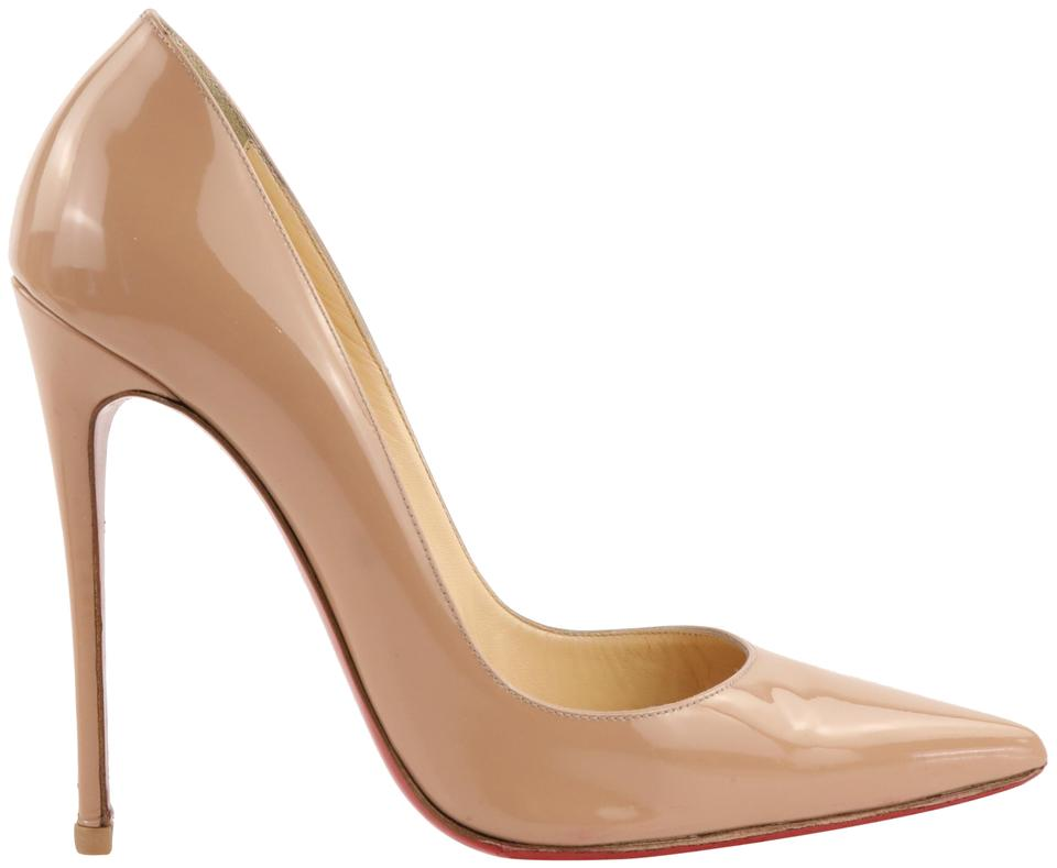 reputable site ed764 a52a3 Christian Louboutin Beige So Kate 120mm Patent Pumps Size EU 39.5 (Approx.  US 9.5) Regular (M, B) 54% off retail