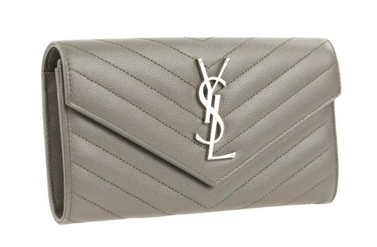 Saint Laurent YSL Leather Large Flap Continental Wallet Image 1