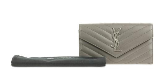 Saint Laurent YSL Leather Large Flap Continental Wallet Image 11