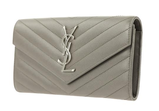 Saint Laurent YSL Leather Large Flap Continental Wallet Image 3