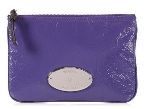 Mulberry PURPLE PATENT LEATHER MITZY ZIP POUCH