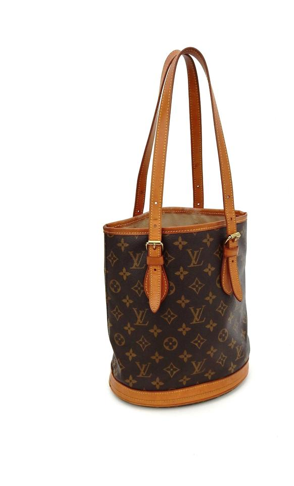 ece3f60f1c Louis Vuitton Bucket Pm Brown Monogram Canvas Leather Shoulder Bag ...