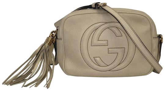 67418f0ba0a Gucci Soho Disco In Off White Leather Cross Body Bag - Tradesy