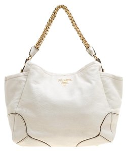 99390f051b2c49 White Leather Prada Bags - 70% - 90% off at Tradesy