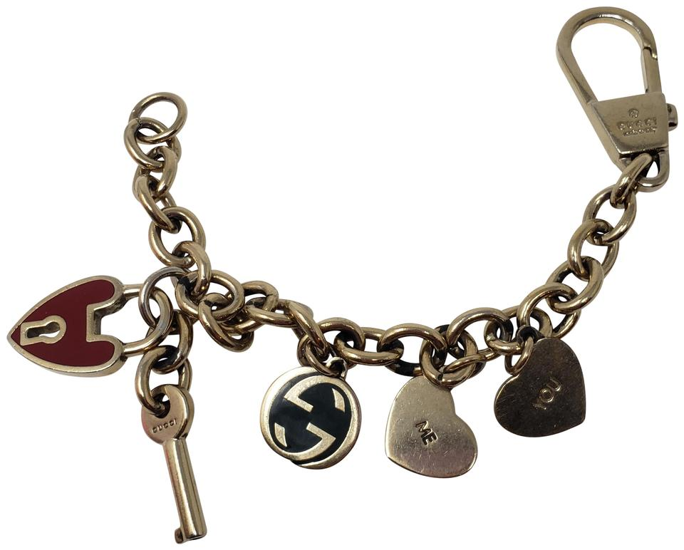 fd6738745e05d Gucci Gold Gold-tone Gg Charm Chain-link Keychain Bracelet 49% off retail