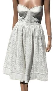 Tibi Lace Crochet Strapless Dress