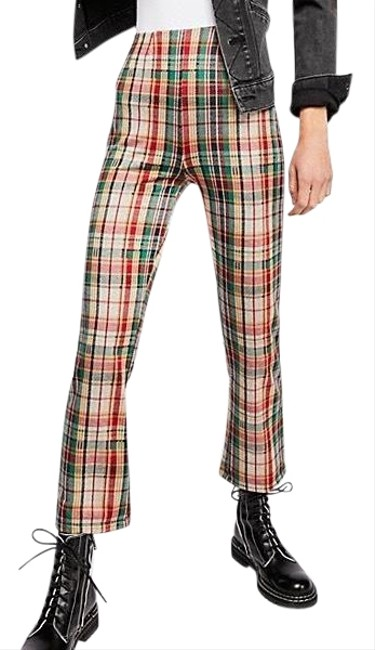 Item - Green / Red Plaid Clean Crop Pants Size 0 (XS, 25)