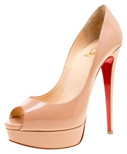 Christian Louboutin Patent Leather Leather Beige Pumps