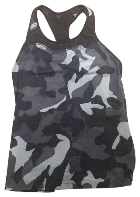 Item - Camo Gray Black Activewear Top Size 4 (S)
