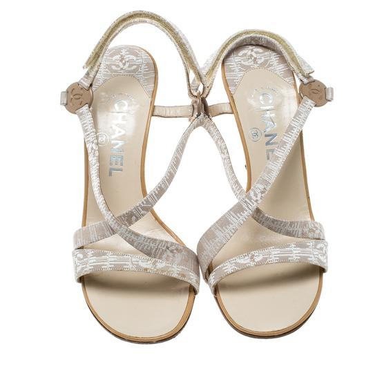 Chanel Leather Beige Sandals Image 1
