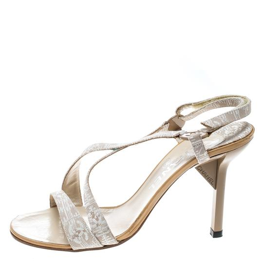 Chanel Leather Beige Sandals Image 3