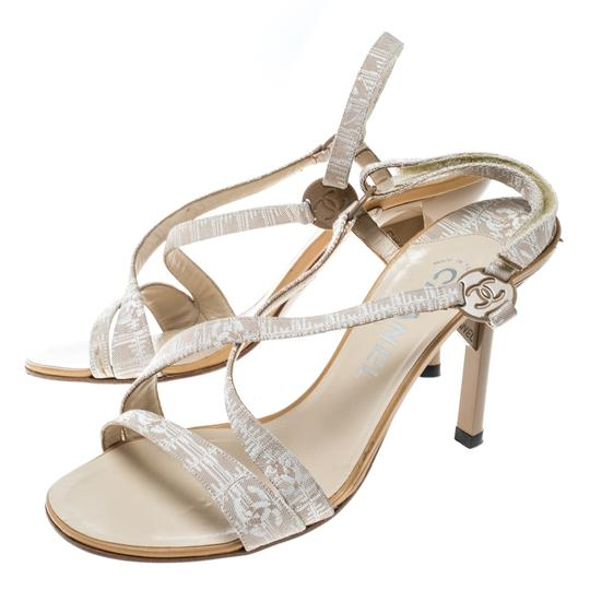 Chanel Leather Beige Sandals Image 4
