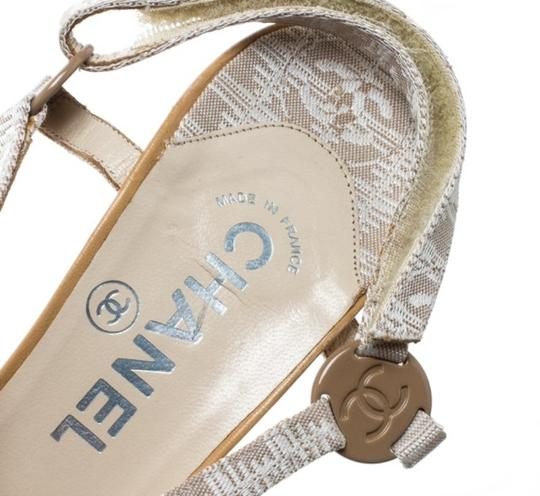Chanel Leather Beige Sandals Image 6