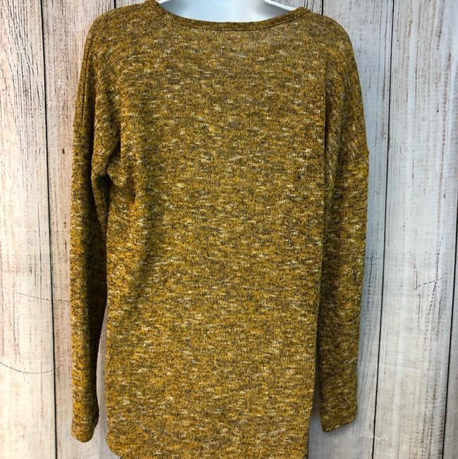 Gibson Knit Sweater Top MUSTARD YELLOW Image 3