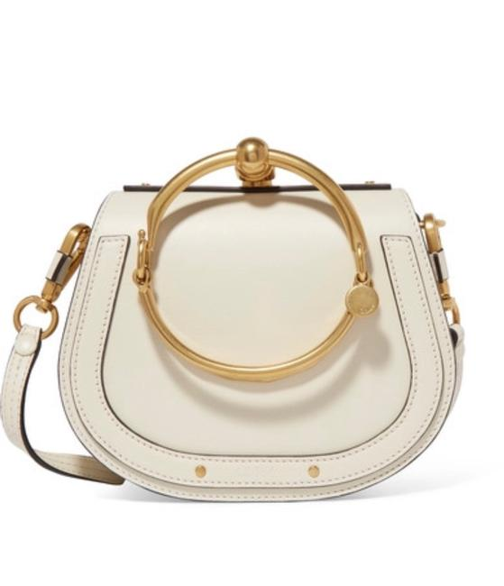 Item - Nile Small Bracelet In Color Off White Leather Cross Body Bag