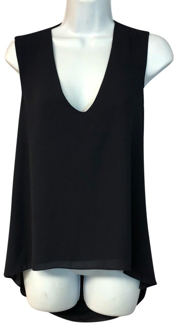 Preload https://img-static.tradesy.com/item/25101054/black-fabrique-en-france-navy-poly-s-blouse-size-6-s-0-1-650-650.jpg