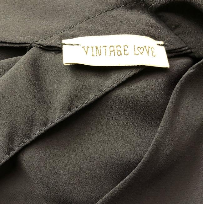 vintage love Navy Top Black Image 3