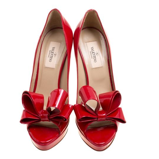 Valentino Patent Leather Red Pumps Image 1