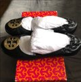 Tory Burch black with gold hardware Flats Image 1