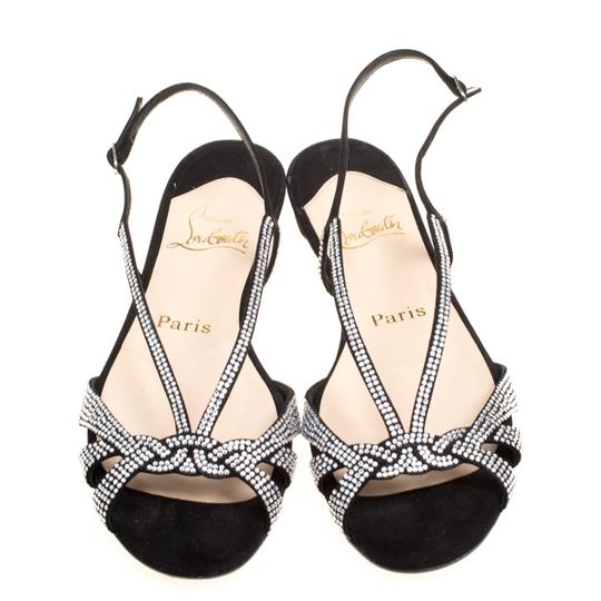Christian Louboutin Suede Leather Black Sandals Image 1