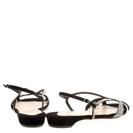 Christian Louboutin Suede Leather Black Sandals Image 2