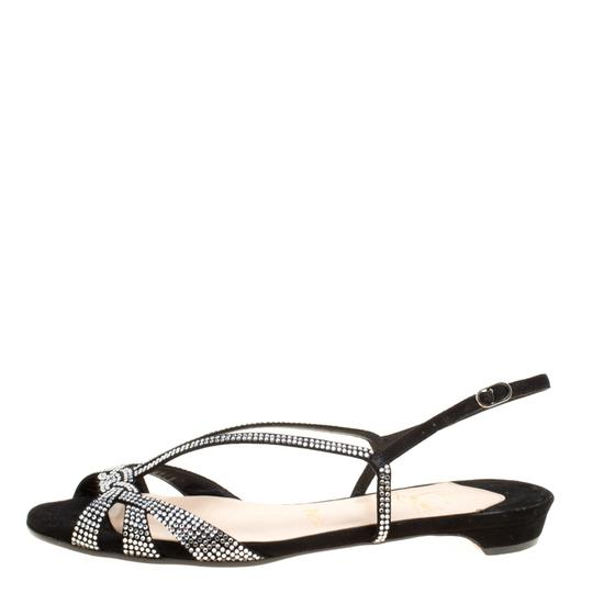 Christian Louboutin Suede Leather Black Sandals Image 3