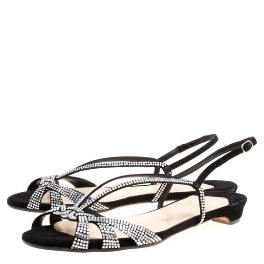 Christian Louboutin Suede Leather Black Sandals Image 4