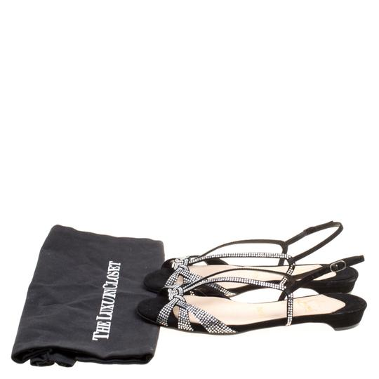 Christian Louboutin Suede Leather Black Sandals Image 8