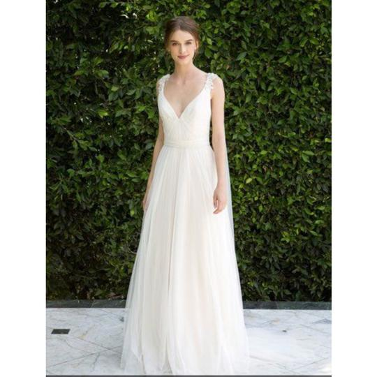 Bliss by Monique Lhuillier Tulle Beaded Formal Wedding Dress Size 10 (M) Image 1