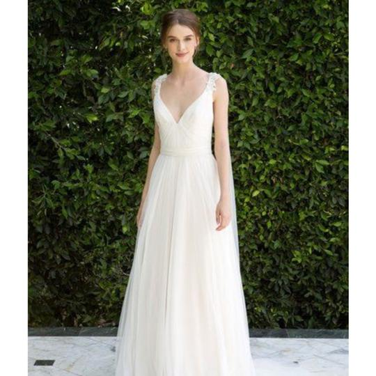 Bliss by Monique Lhuillier Tulle Beaded Formal Wedding Dress Size 10 (M) Image 2